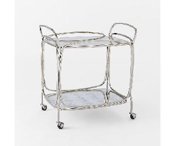 West Elm Foxed Mirror Bar Cart