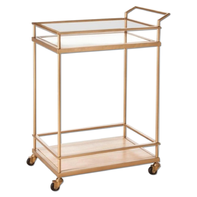 Target Wood amp Glass Gold Finish Bar Cart AptDeco : 1500 1500 frame 0 from www.aptdeco.com size 1500 x 1500 jpeg 99kB