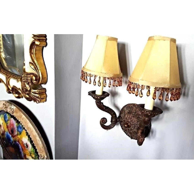Baroque Rococo Style Bronze Crystal Sconce