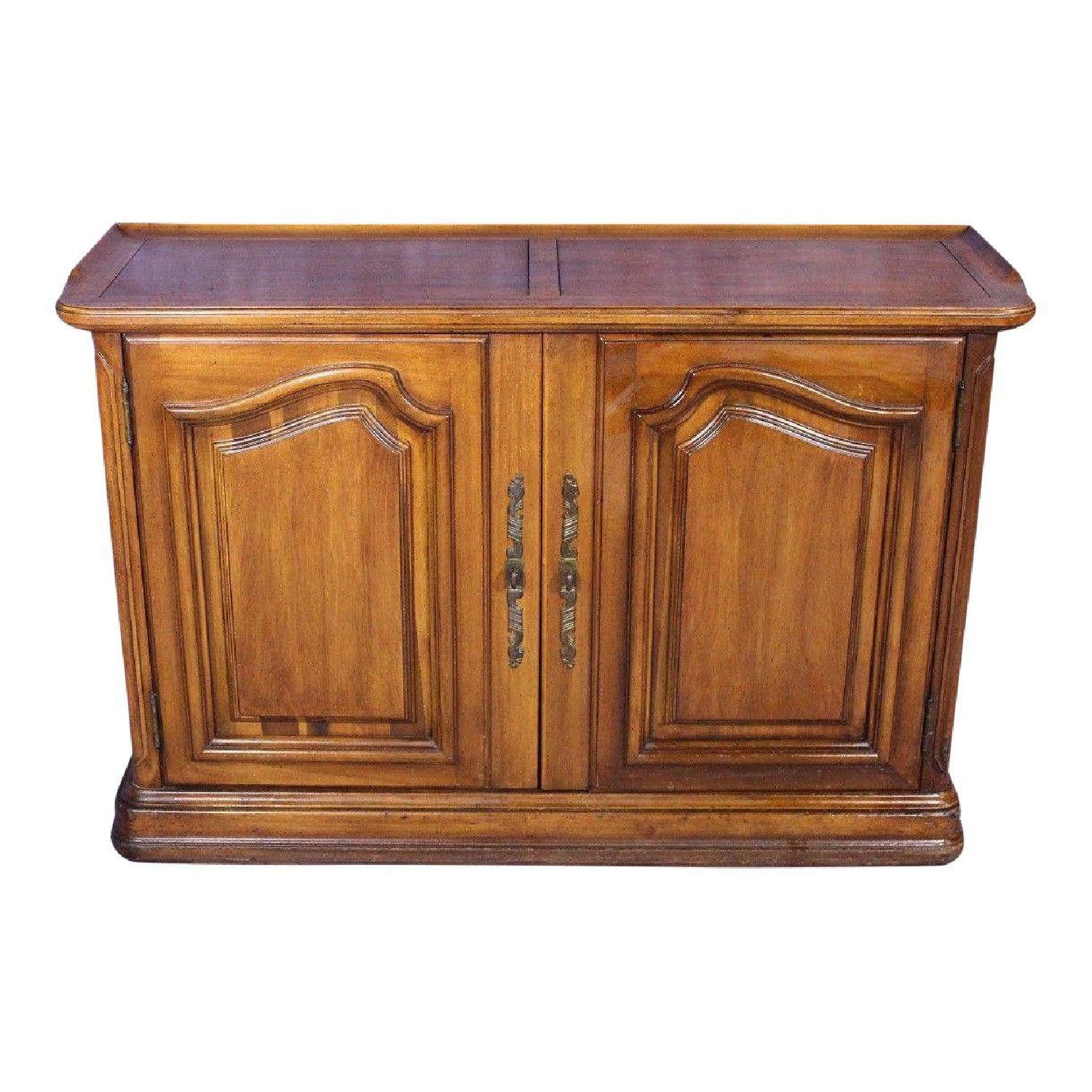 Bordeaux Louis XV French Provincial 2 Door Cabinet