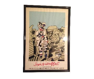 Framed Jean Dubuffet Exhibition Poster Print