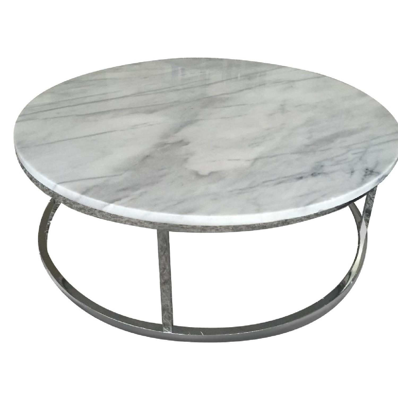 Cb2 Marble Top Round Coffee Table Aptdeco