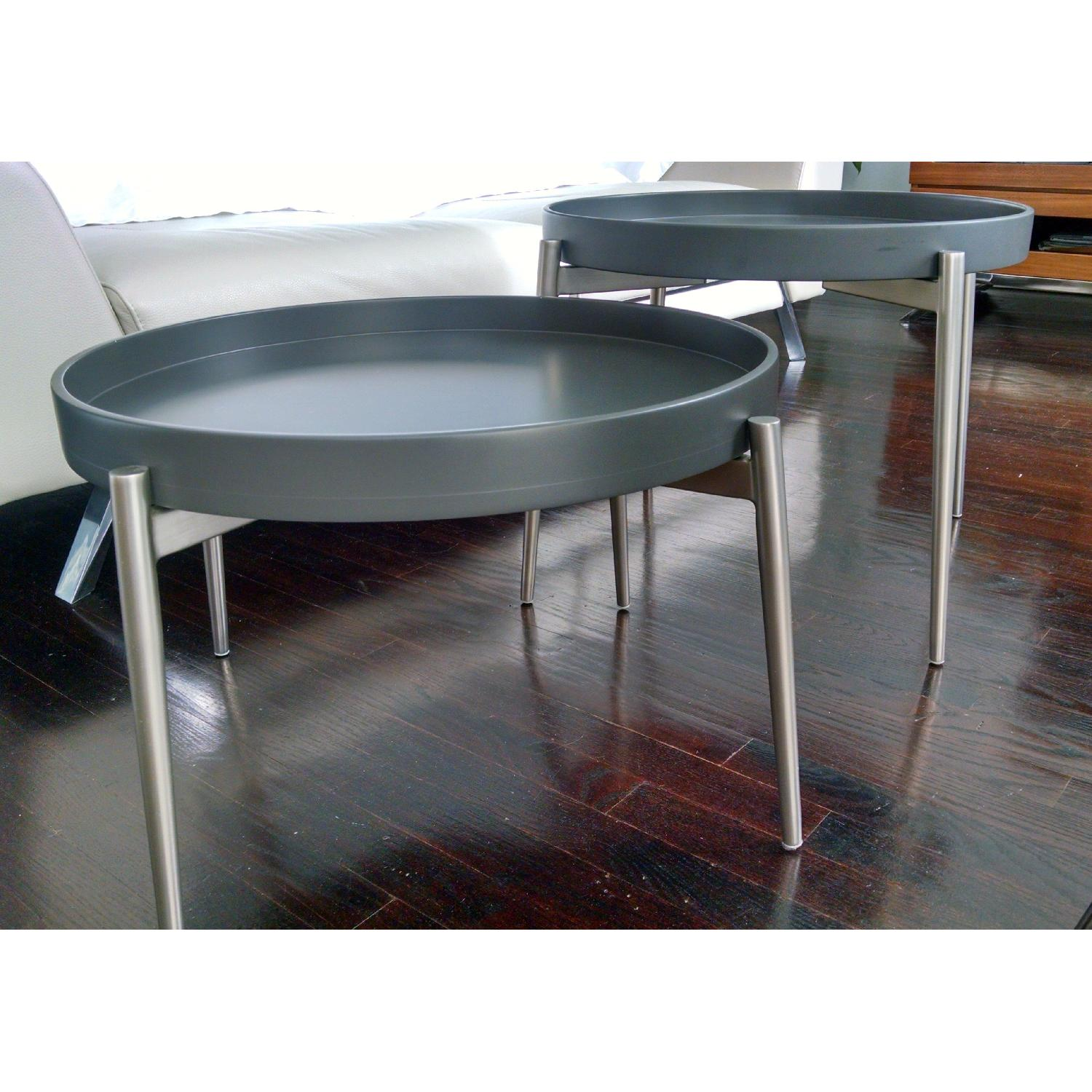 BoConcept Round Vera Coffee Tables - Pair - image-1