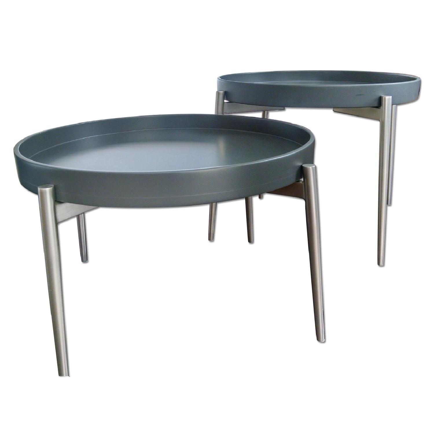 BoConcept Round Vera Coffee Tables - Pair - image-0
