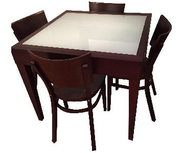 Design Within Reach Spanna Extending Table w/ 4 Kyoto Chairs