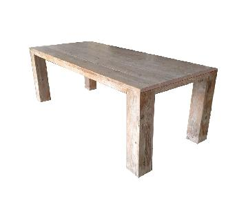 Solid Furn Dallas Aged Pinewood Table