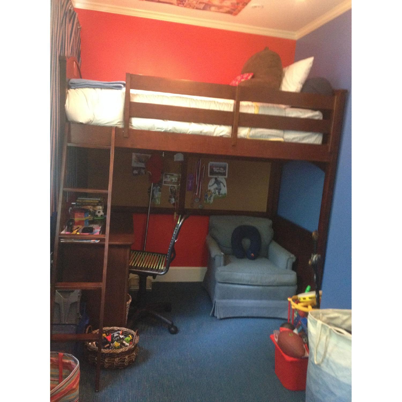 Picture of: Hayneedle Twin Over Twin Sized Deer Run Loft Bed Aptdeco