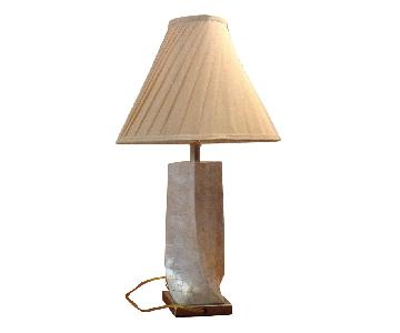 Neiman Marcus Mother of Pearl Lamp - 2 Available