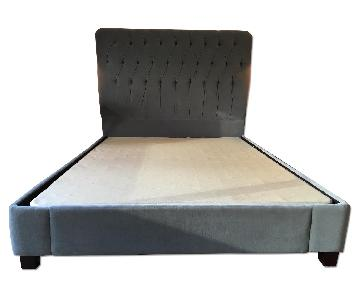 Restoration Hardware Fairmont Upholstered Queen Size Bed Fra