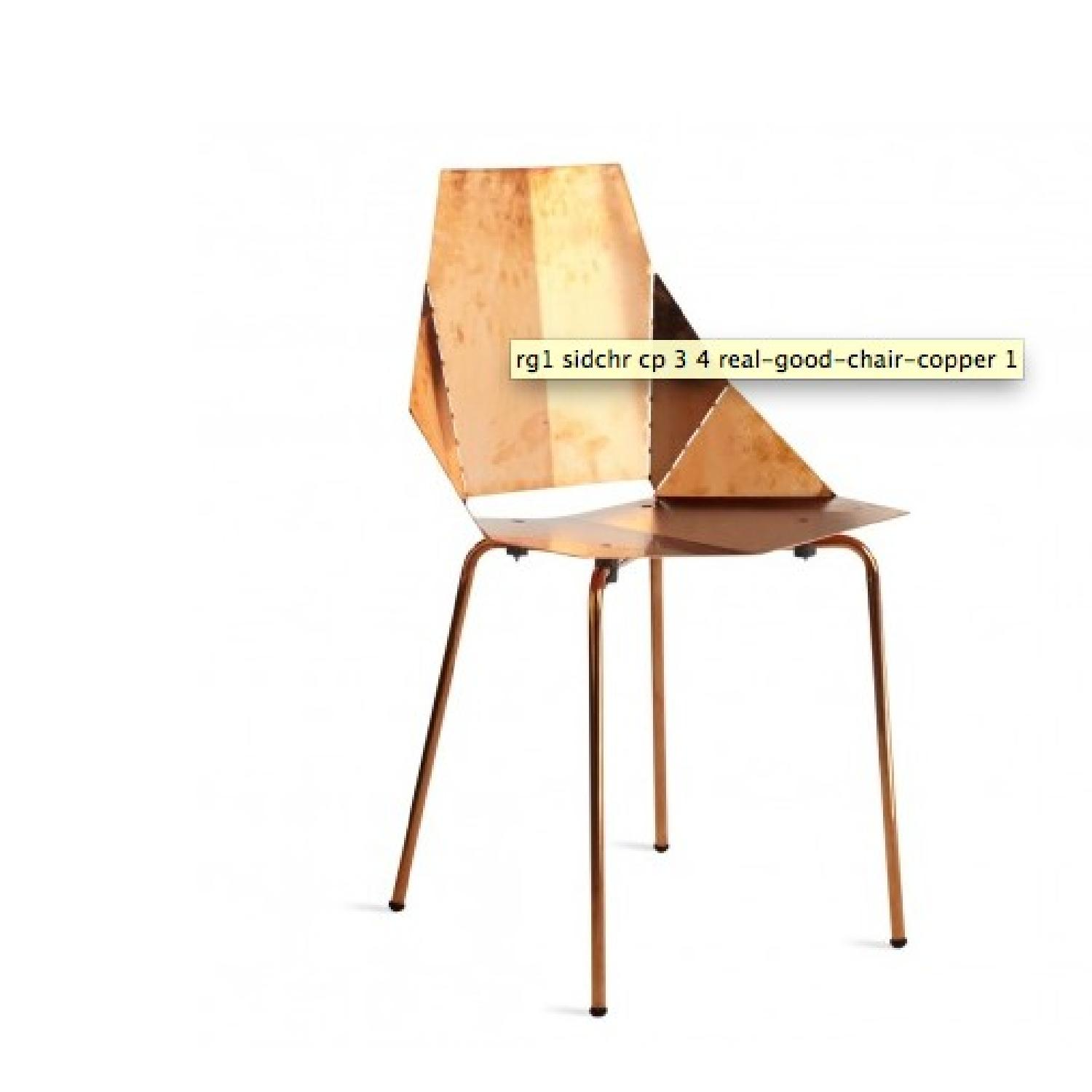 Blu Dot Copper Plate over Steel Accent Chair - 2 Available - image-1