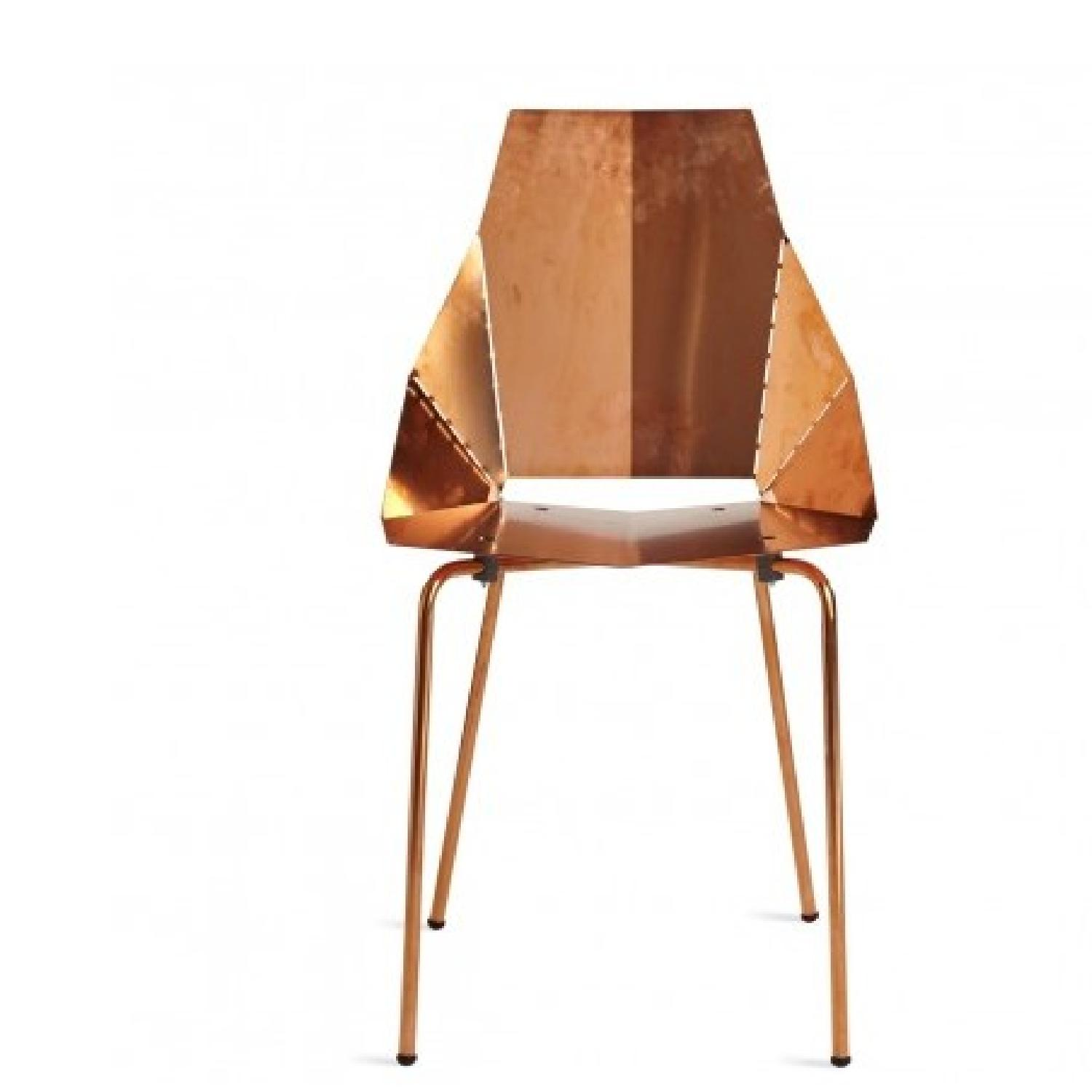 Blu Dot Copper Plate over Steel Accent Chair - 2 Available - image-3