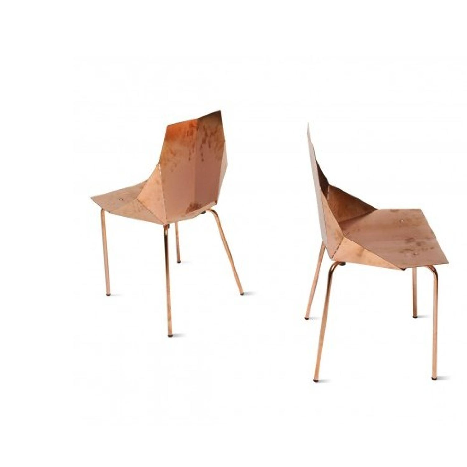 Blu Dot Copper Plate over Steel Accent Chair - 2 Available - image-0
