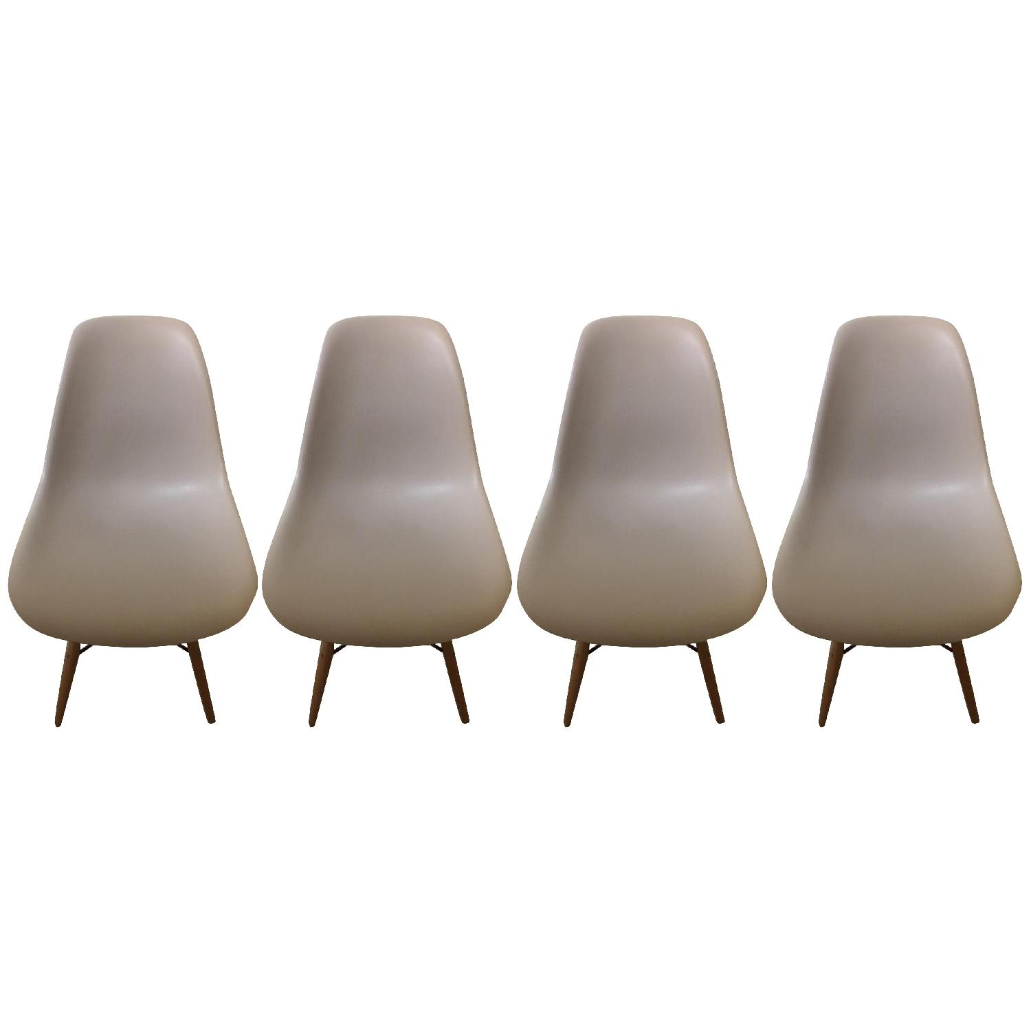 Gold Sparrow Lucas Beige Wood Grain Accent Chairs - Set Of 4 - image-0