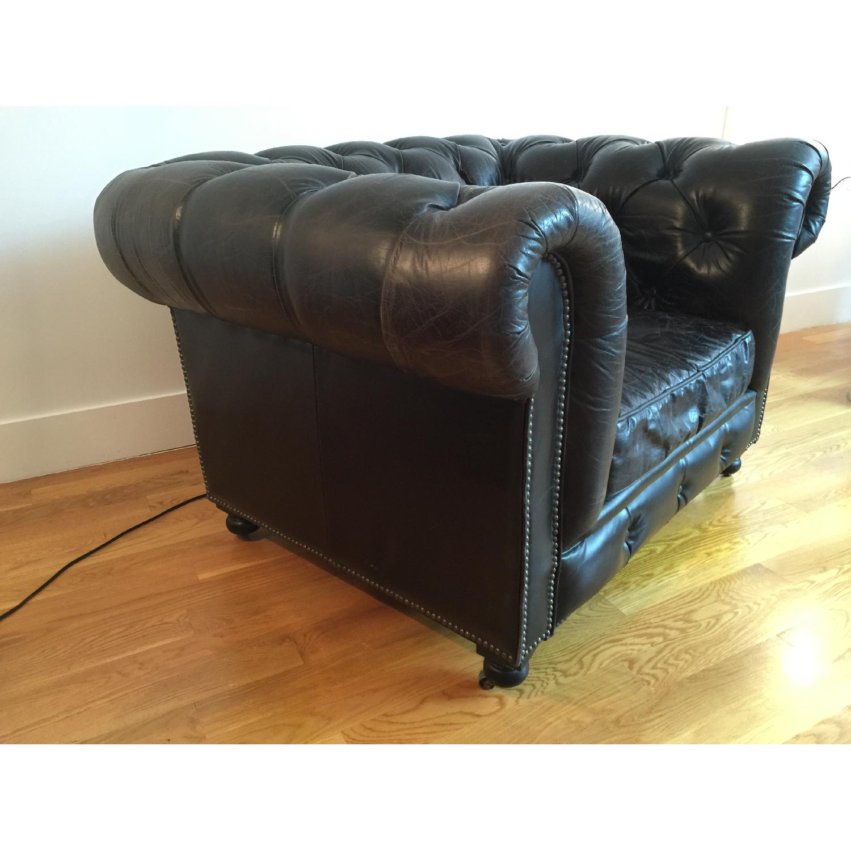 Restoration Hardware Kensington Leather Chair - image-3