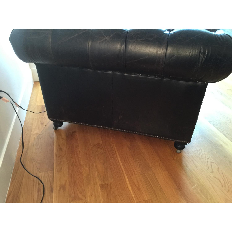 Restoration Hardware Kensington Leather Chair - image-4