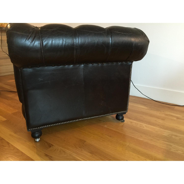 Restoration Hardware Kensington Leather Chair - image-5