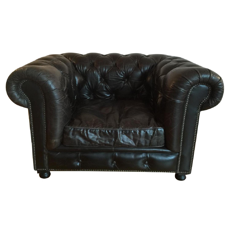 Restoration Hardware Kensington Leather Chair - image-0