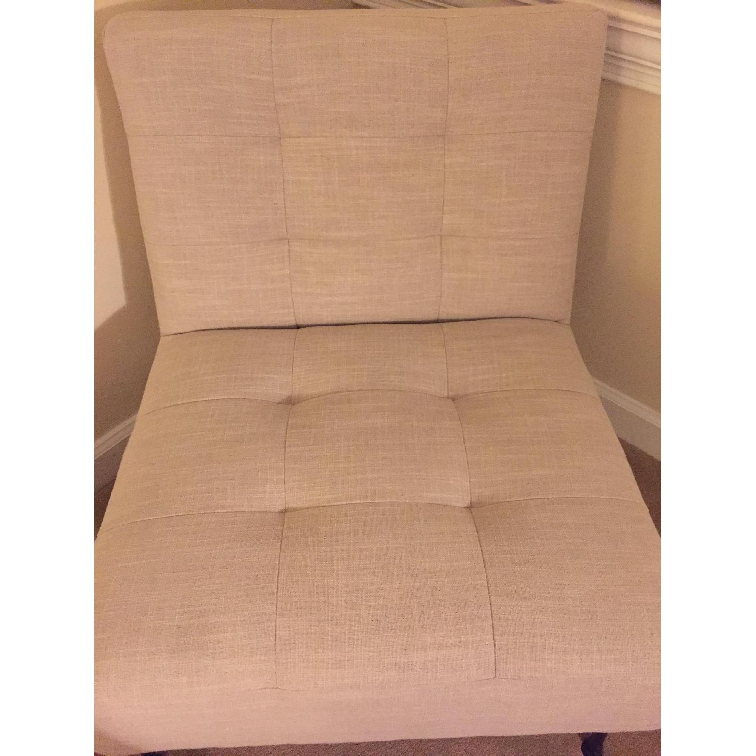 West Elm Oswald Tufted Slipper Chair - image-4