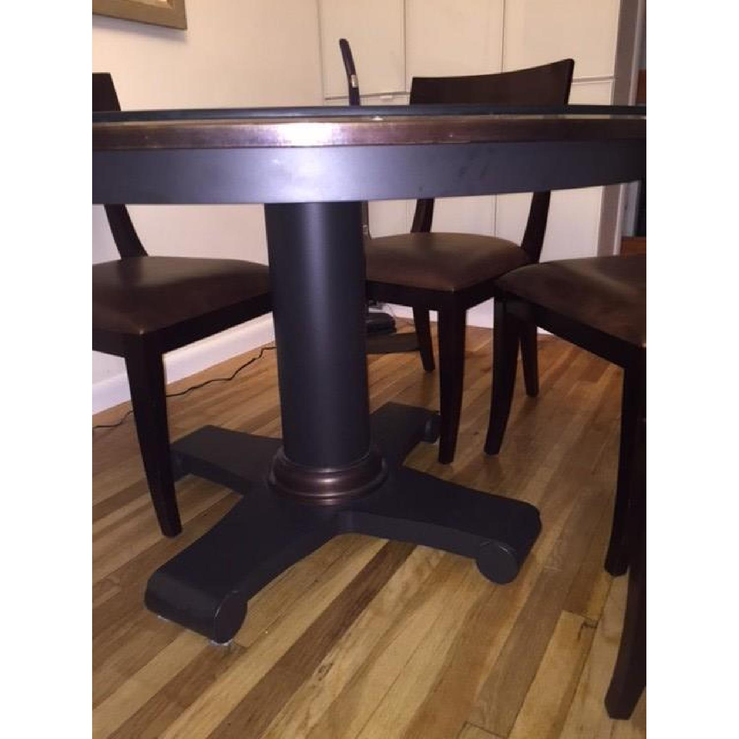 Crate & Barrel Copper Top Dining Table