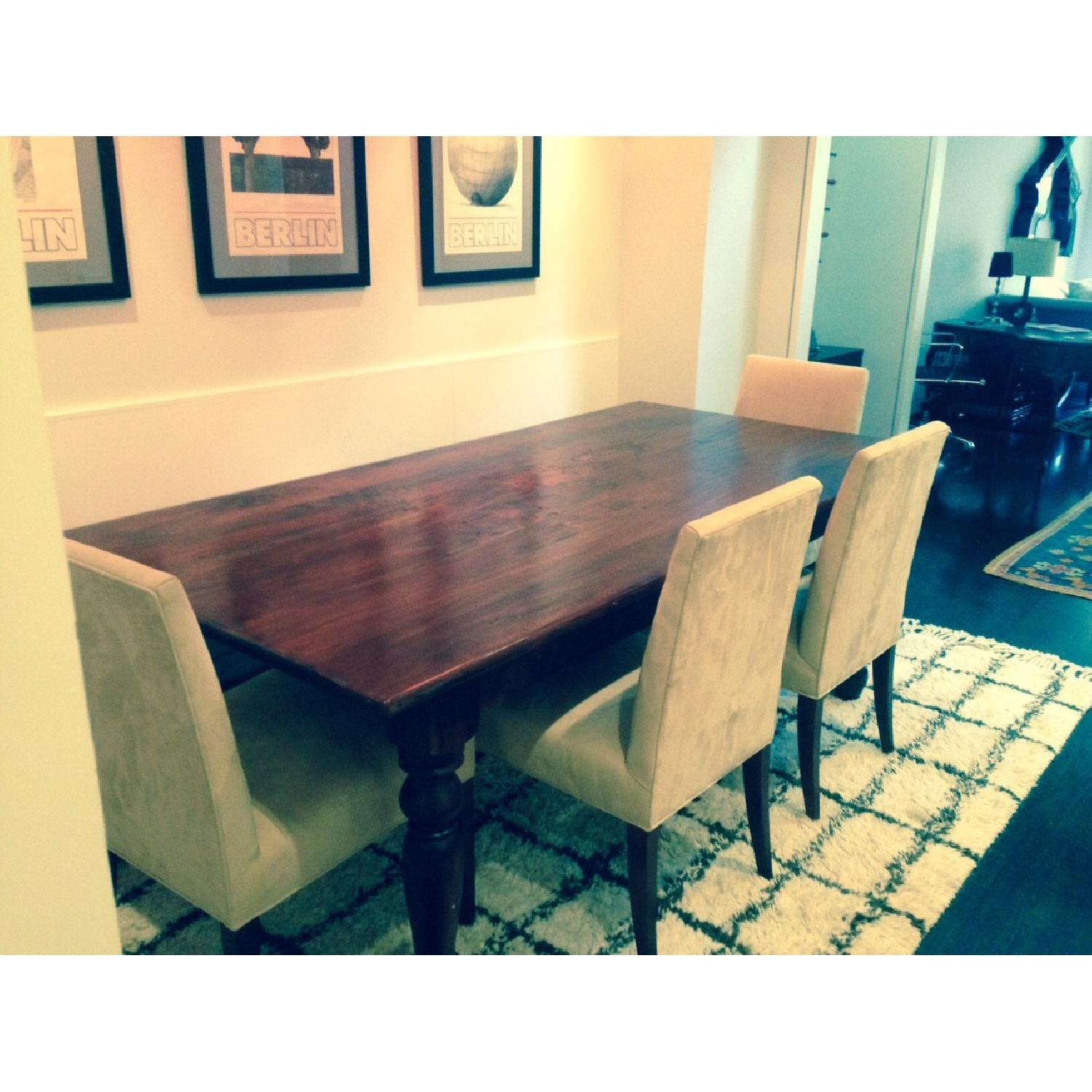 ABC Carpet & Home Solid Wood Dining Table - image-1