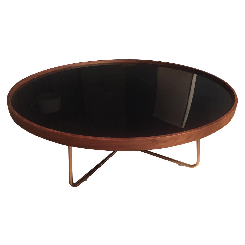 Mahogany Round Coffee Table - image-0