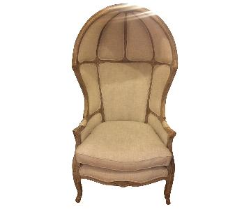 Restoration Hardware Versailles Burlap-Backed Chair