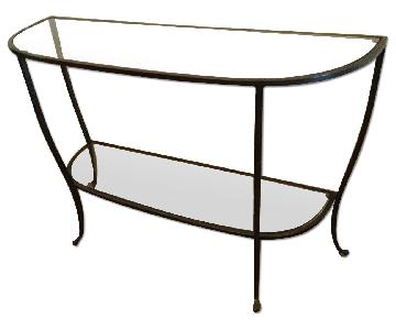 Pottery Barn Glass Console Table