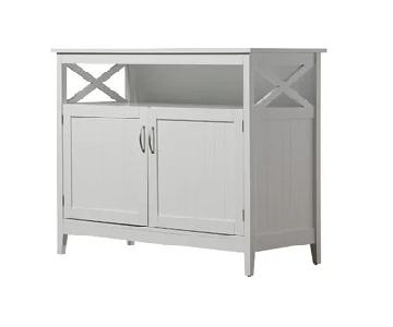 Beachcrest Home Bellwether White Buffet