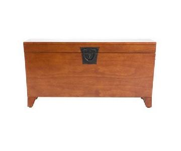 Wildon Home Mission Oak Coffee Table Trunk