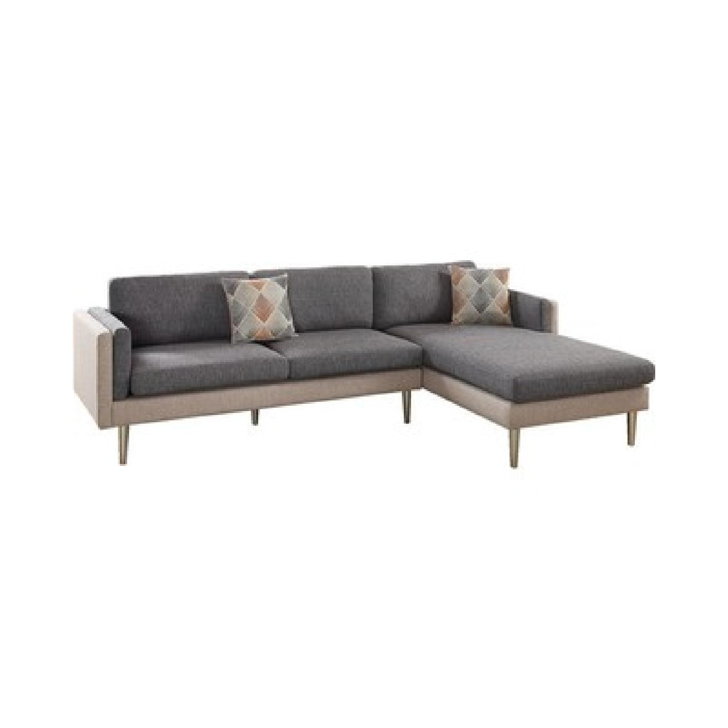 Ash Black 2 Piece Reversible Chaise Sectional Sofa ...