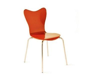 CB2 Sable Plastic Orange Dining Chair