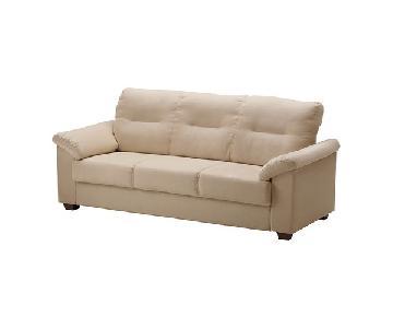 Ikea Knislinge Beige Fabric Sofa