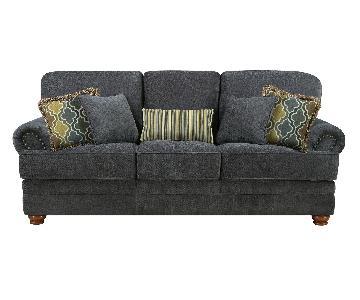 Coaster Sofa in Grey Chenille Fabric & Pocket Coil Seats