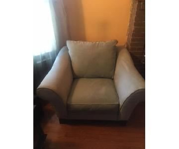 Raymour & Flanigan Suede Chair