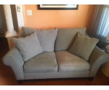 Raymour & Flanigan Suede Loveseat