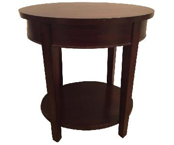 Pier 1 Contemporary Round Side Table w/ 1 Drawer
