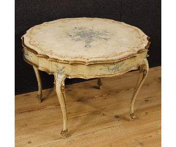 Venetian Coffee Table in Lacquered & Gilt Wood