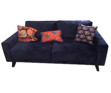 Viesso Miku Blue Velvet Sofa