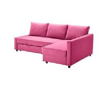 Ikea Friheten Pink Sleeper Sectional Sofa