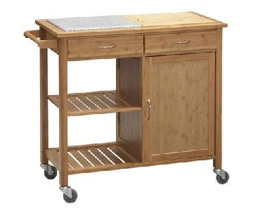 Bed Bath & Beyond Linon Home Bamboo Rolling Kitchen Island