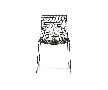 Crate & Barrel Tig Metal Dining Chair