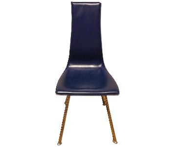 Theodores Modern Blue Italian Design Dining Chair