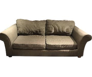 Green Brown Fabric Sofa