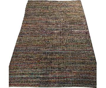 CB2 Multi-Colored Recycled Cotton Rug