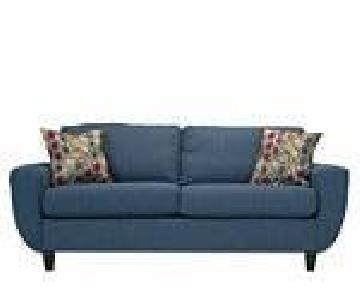 Raymour & Flanigan Robinson Blue Tweed Sofa