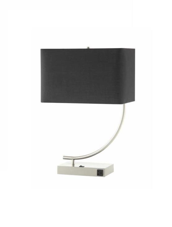 Coaster Satin Nickel Table Lamp w/ Black Rectangle Shade