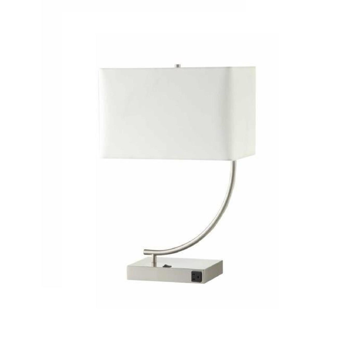 Coaster Stain Nickel Table Lamp