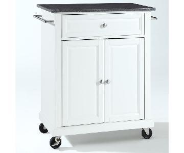 Alcott Hill Kitchen Cart w/ Granite Top