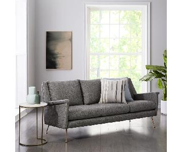 West Elm Carlo Midcentury Sofa in Granite Twill