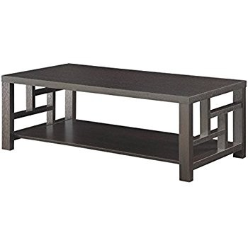 Coaster 1 Shelf Window Pane Coffee Table in Cappuccino